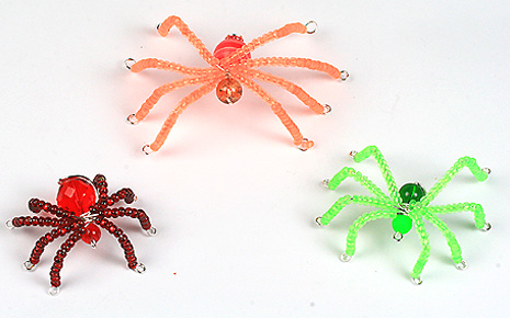3 Easy Halloween neon spiders