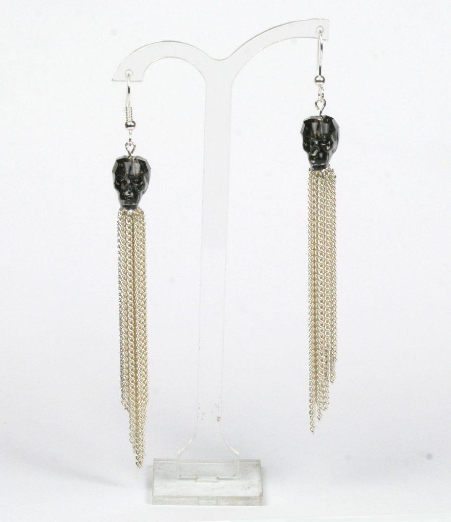 Halloween Swarovksi crystal skull earrings