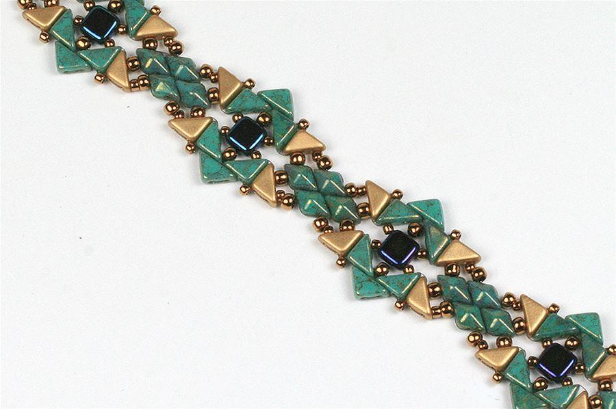 Tango, Diamonduo, and Tile Bracelet - Creative Beadcraft