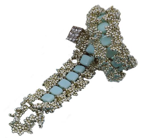 Iced Ruffle Bracelet by Nichole Starman