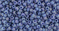 Toho Seed Beads - Semi-glazed Rainbow Soft Blue