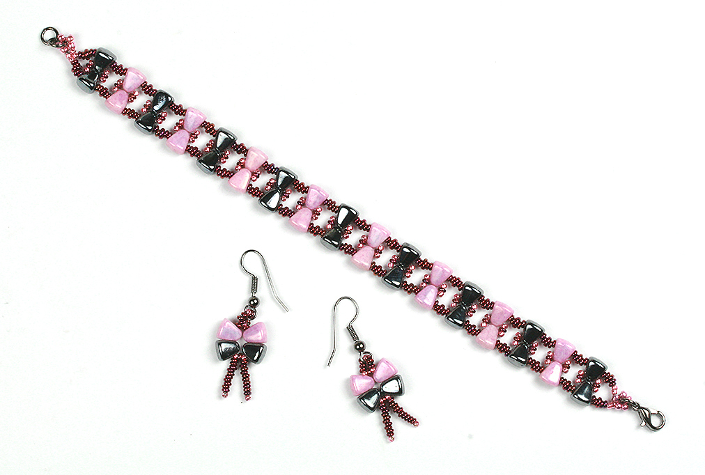 Nib-bits Bow Bracelet and Earrings
