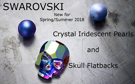 Swarovski Innovations - Spring/Summer 2018 - New Pearl Colours and Flatback Skulls