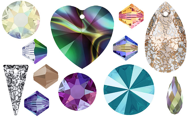 A Guide to the Colours and Effects of Swarovski Beads and Stones