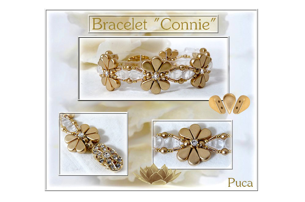 Connie Bracelet with Amos par Puca Beads