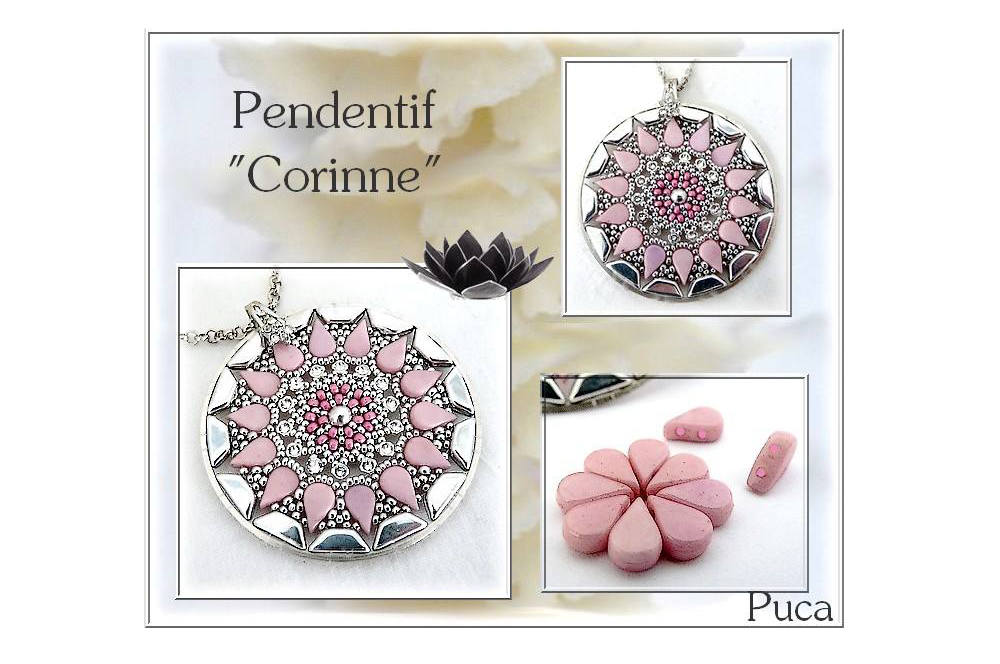 Corinne Pendant with Amos par Puca Beads