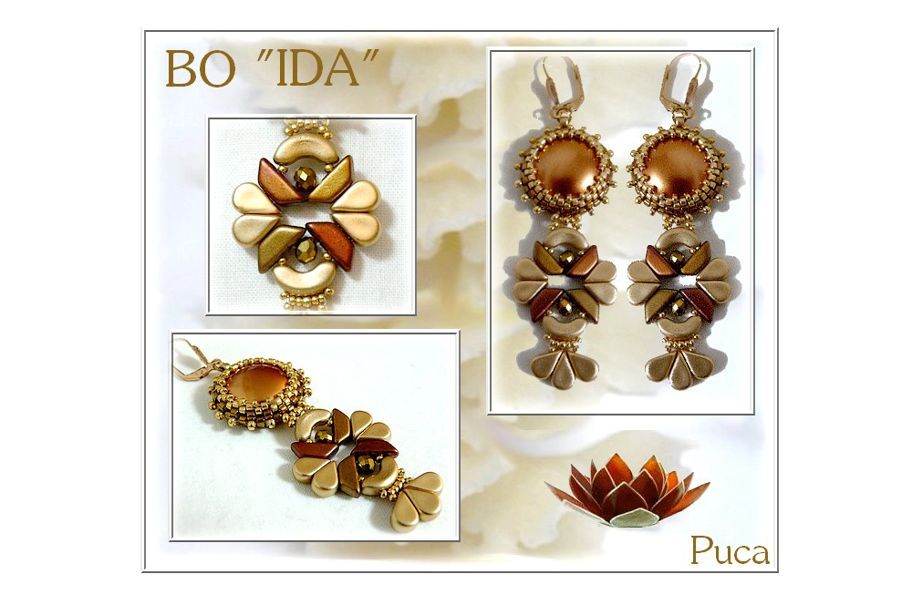 Ida Earrings with Amos par Puca Beads