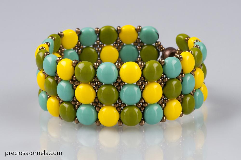 Candy bead cuff