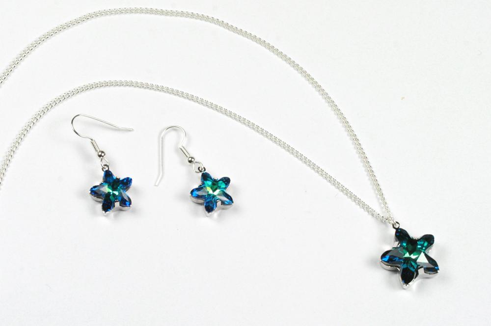 Swarovski Starbloom Pendant and Earrings