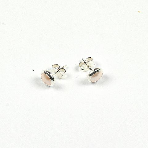 Swarovski Rimmed Cabochon Earrings