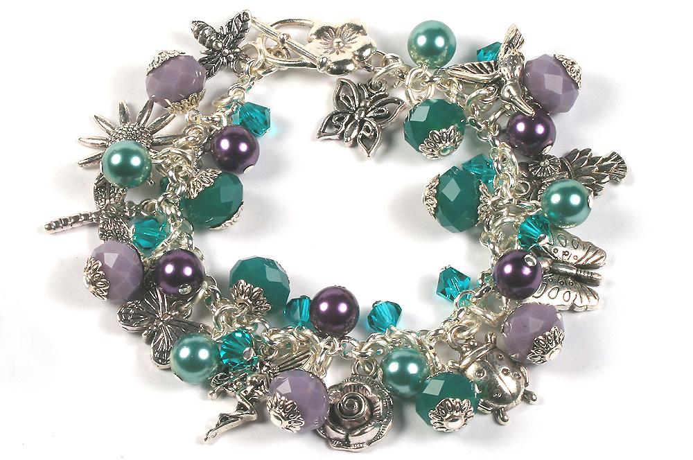 garden charm bracelets