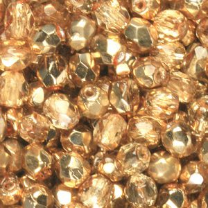 Gold amber half coated