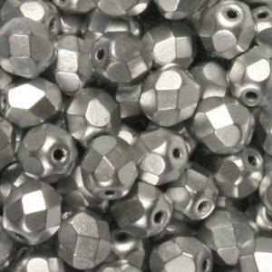 crystal silver matt metallic