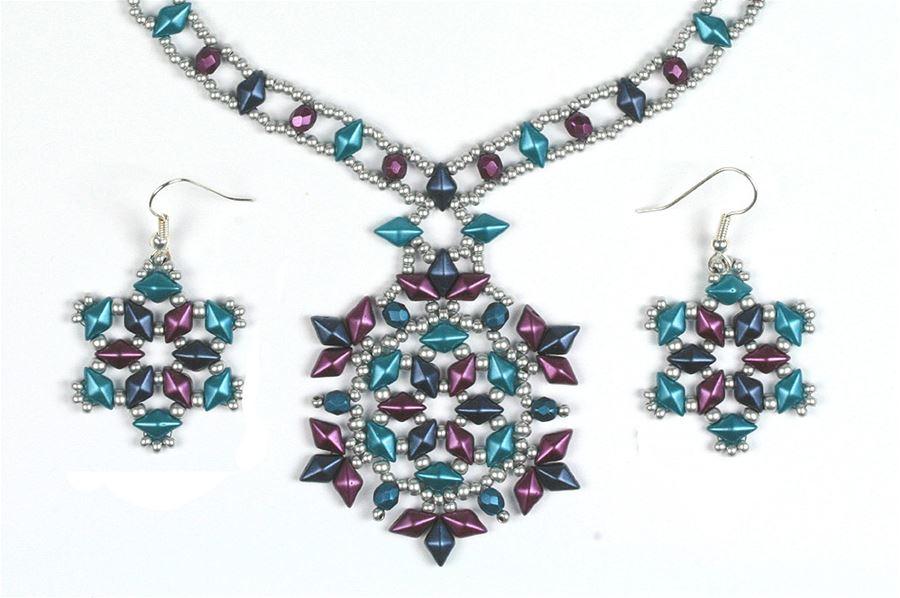 Diamonduo Pendant and Earrings