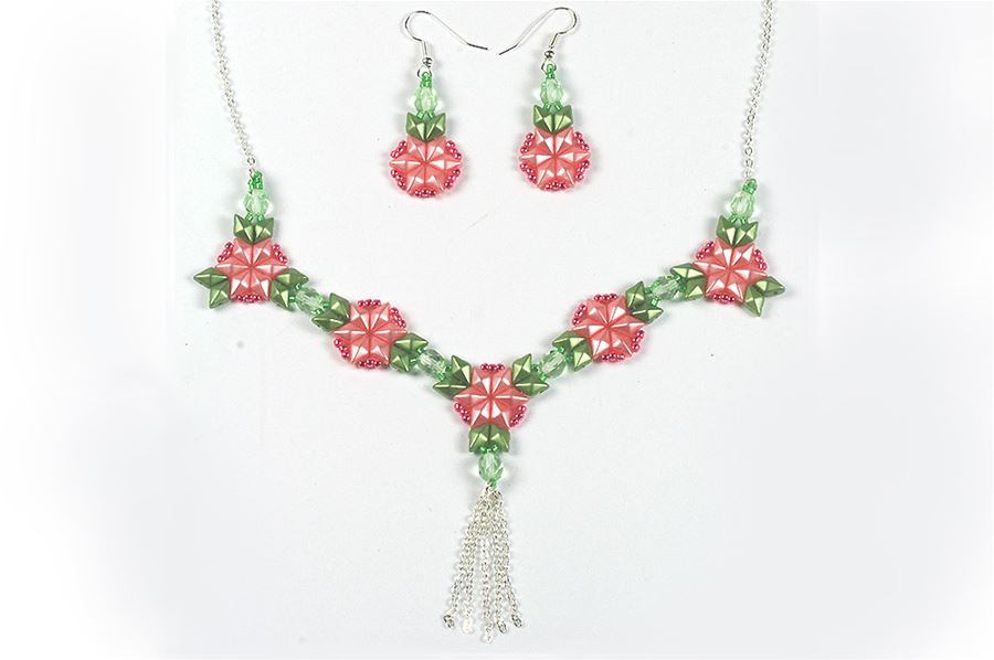 DiamonDuo Strawberry Necklace and Earrings
