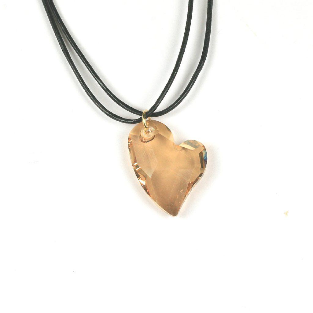 Swarovski Heart Pendants