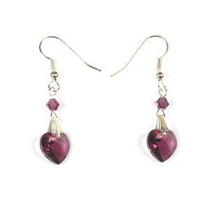 Swarovski-xilion-heart-pendant-amethyst-earromgs-495