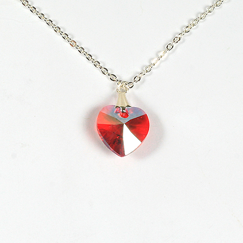 Swarovski xilion heart pendant necklace