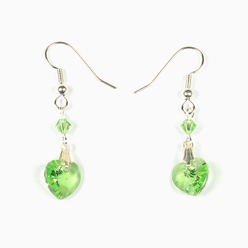 Swarovski-xilion-heart-pendant-peridot-earrings-495