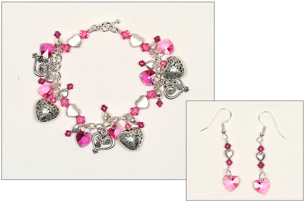 Swarovski xilion pendant charm bracelet