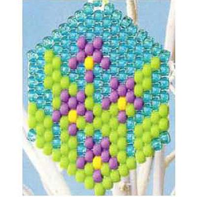 Pony Beads Iris Decoration