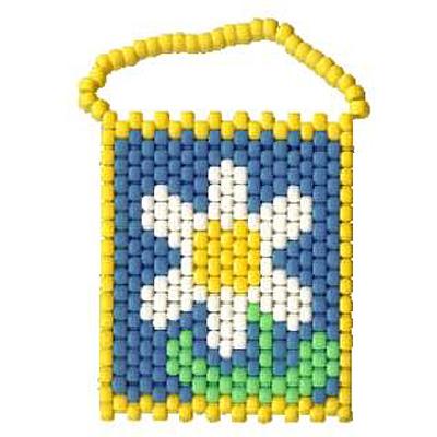Pony Beads Flower Banner
