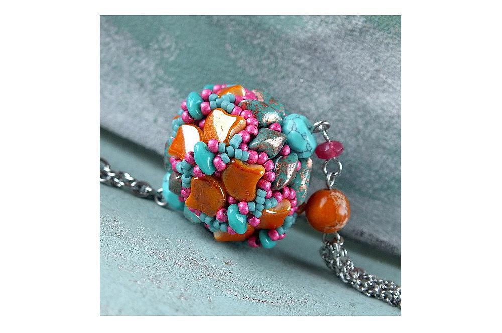 ginko beads dragon beaded bead pendant