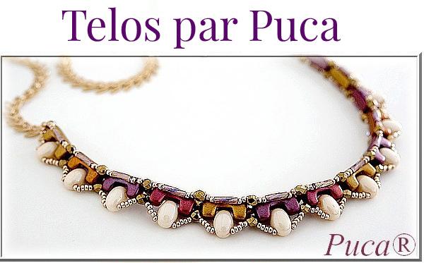 Tinaya Necklace with Telos par Puca Beads