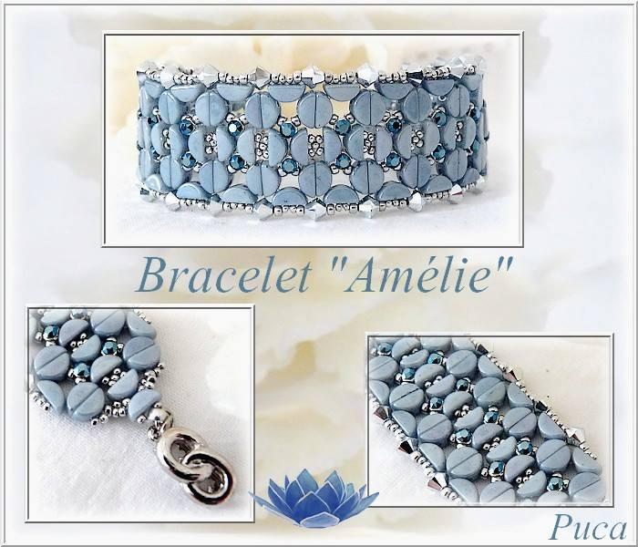 Amelie Bracelet with Kos par Puca beads