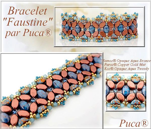 Faustine Bracelet with Samos par Puca beads
