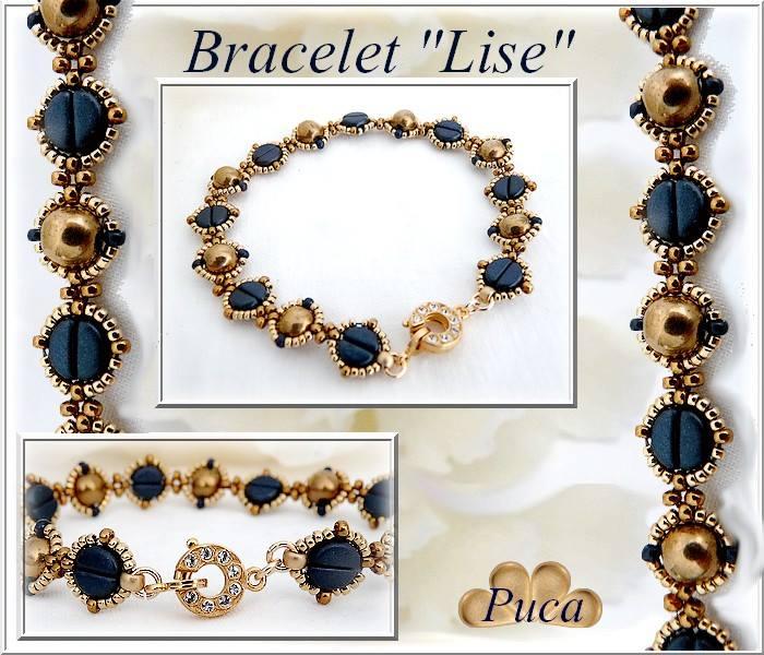 Lise Bracelet with Kos par Puca beads