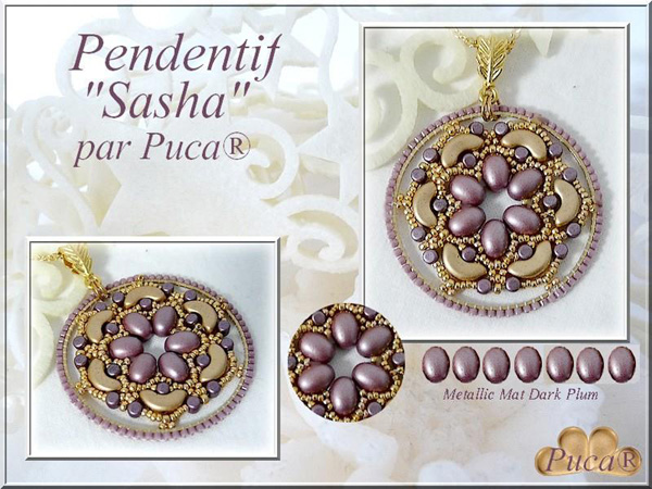 Sasha Pendant with Samos par Puca beads