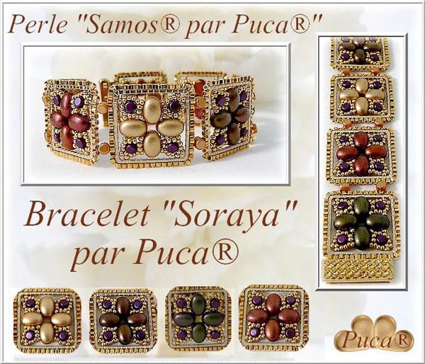 Soraya Bracelet with Samos par Puca beads