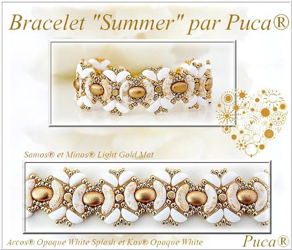 Summer Bracelet with Kos par Puca beads