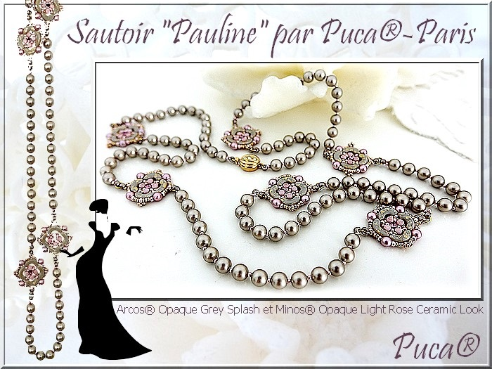 Pauline Necklace from the Charleston Collection by Annick Puca