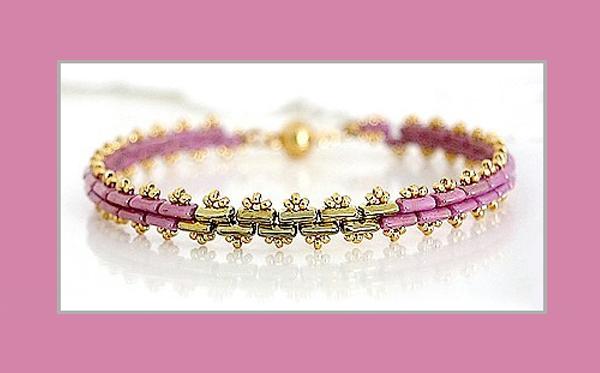 Piros par Puca beads