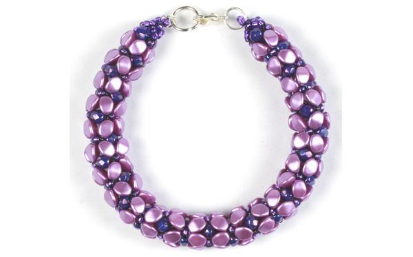 Pinch-bead-tubular-bracelet