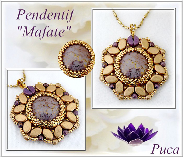 Mafate Pendant with Paros par Puca beads