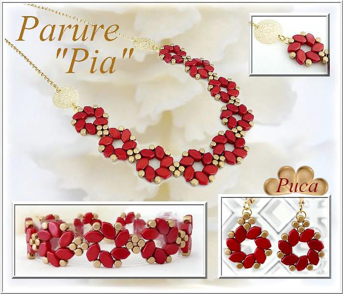 Pia Necklace with Paros par Puca beads