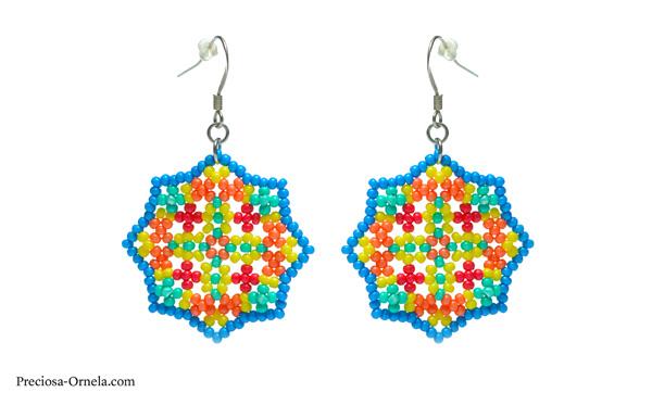 Preciosa Terra Intensive Seed Beads - Earrings
